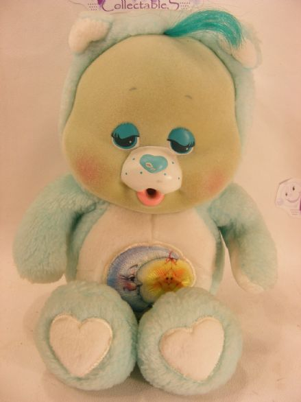 "VINTAGE 10"" BEDTIME CARE BEARS CUB 80S CAREBEARS"